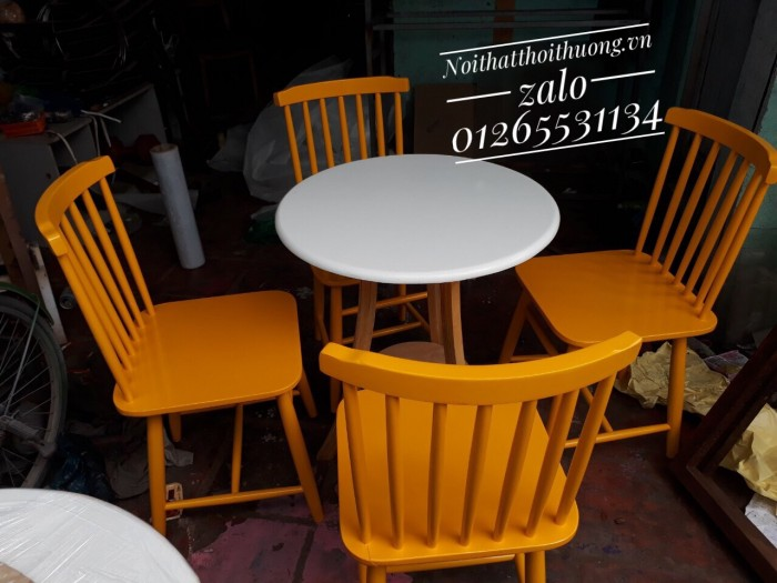 Bàn ghế tròn cafe,trà sữa giá rẻ.3