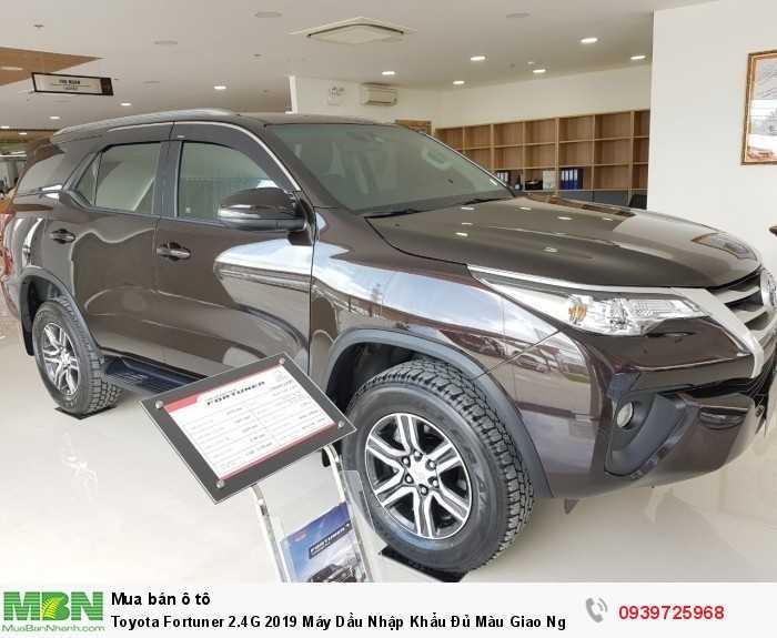 Toyota Fortuner 2.4G 2019 Máy Dầu Nhập Khẩu Đủ Màu Giao Ngay Tại HCM