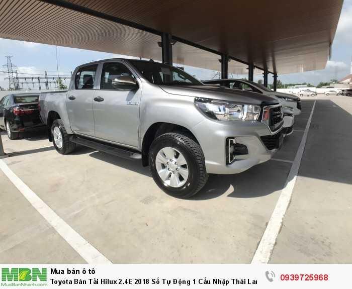 Toyota Bán Tải Hilux 2.4E 2018 Số Tự Động 1 Cầu  Nhập Thái Lan. Mua Trả Góp Chỉ 170Tr