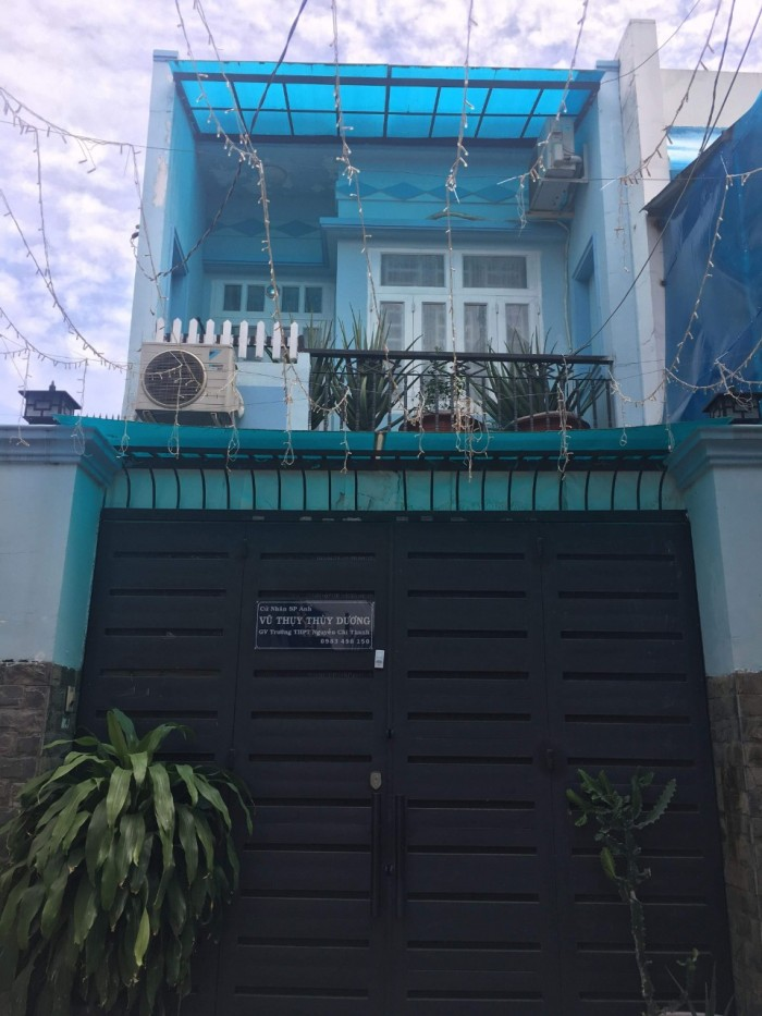 Chính chủ bán căn nhà 1 lầu đường Phạm Thế Hiển, 78m2, có sổ riêng, hẻm nhựa 5m