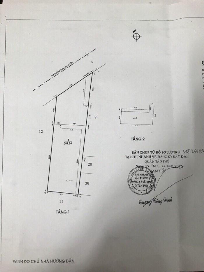 Kẹt vốn làm ăn bán gấp MTKD Thoại Ngọc Hầu Q.Tân Phú - 510m2 - gồm 18 phòng trọ
