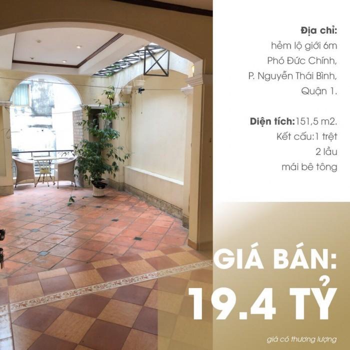 Bán nhà đường Phó Đức Chính, P.Nguyễn Thái Bình, Quận 1.