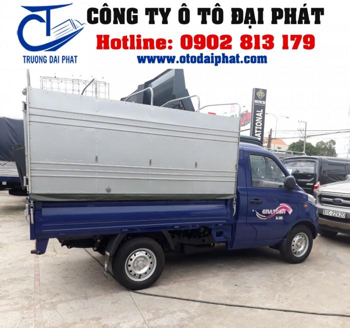 Xe tải Foton Gratour 890kg 1.2L thùng mui bạt động cơ xăng giá tốt 3