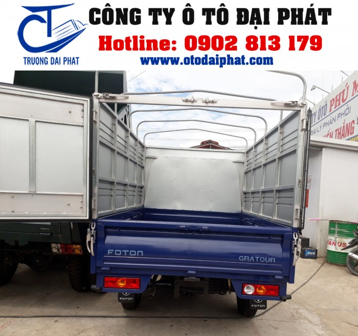 Xe tải Foton Gratour 890kg 1.2L thùng mui bạt động cơ xăng giá tốt 2