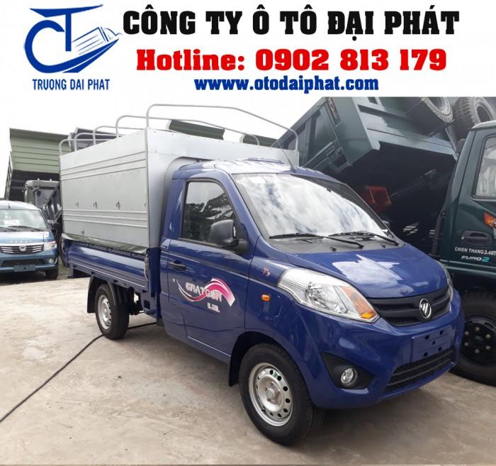 Xe tải Foton Gratour 890kg 1.2L thùng mui bạt động cơ xăng giá tốt