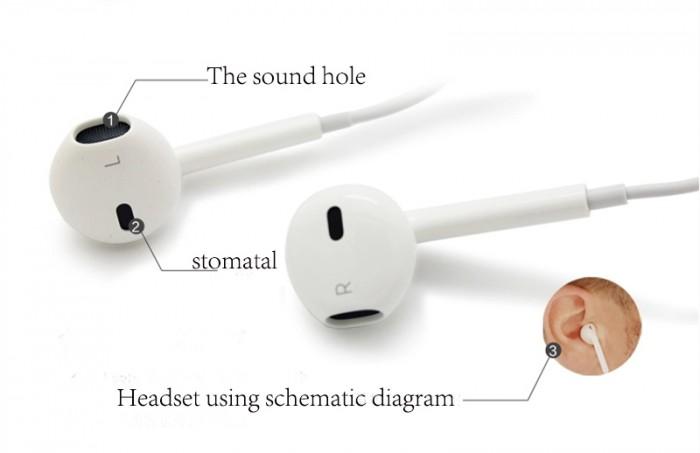Tai nghe nhét tai có dây dùng cho iPhone 7 iPhone 8 iPhone X