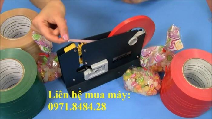 Máy buộc túi nilong, máy buộc túi trong siêu thị, máy buộc túi thực phẩm3