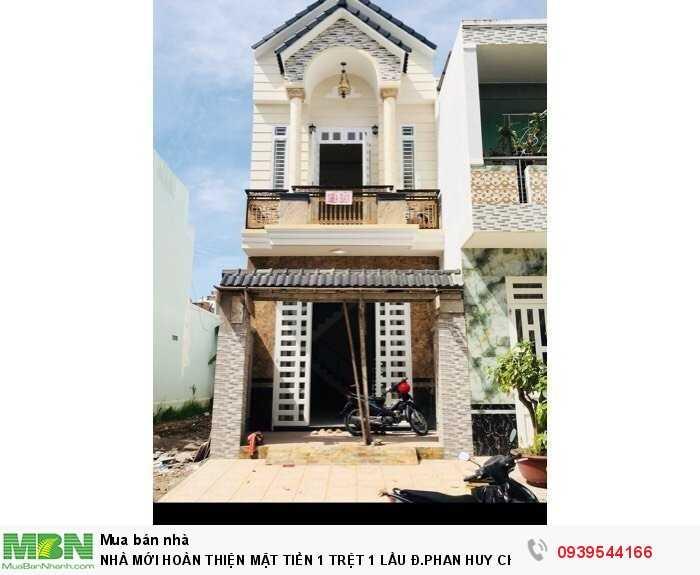 Nhà Mới HOoàn Thiện Mặt Tiền 1 TRệt 1 Lầu Đ.Phan Huy Chú