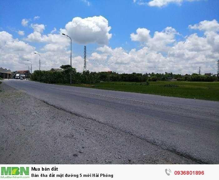 Bán 4ha đất mặt đường 5 mới Hải Phòng