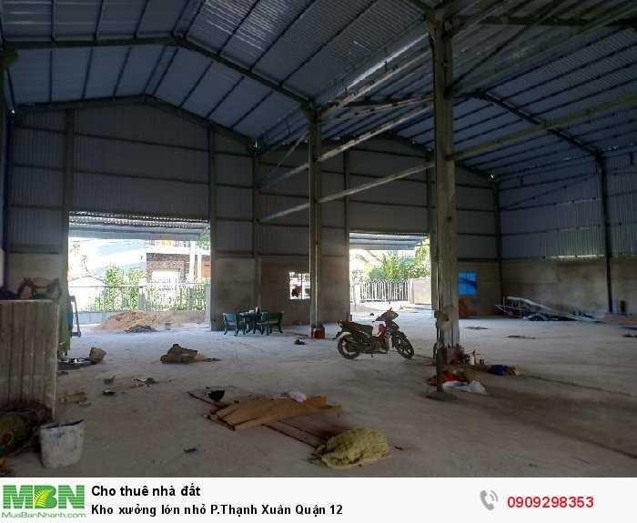 Kho xưởng lớn nhỏ P.Thạnh Xuân Quận 12