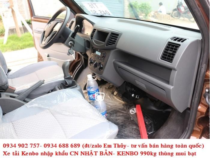 xe tải kenbo 990kg thùng mui bạt - nhập khẩu Nhật Bản- giá chỉ 160 triệu 3