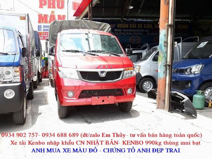 xe tải kenbo 990kg thùng mui bạt - nhập khẩu Nhật Bản- giá chỉ 160 triệu 0