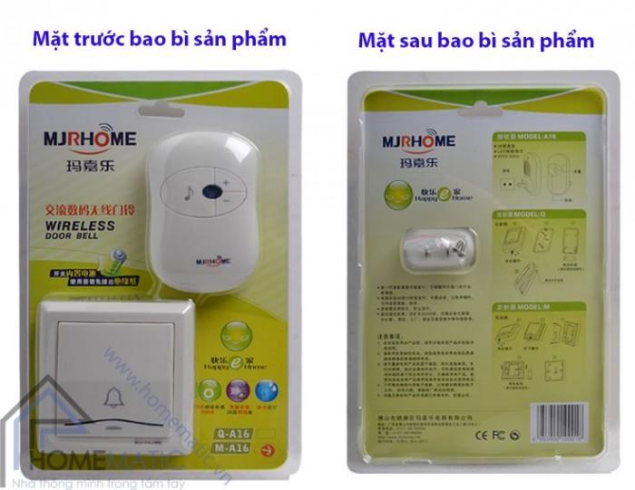 Chuông cửa không dây MJRHOME M-A16 trang bị nút nhấn chống thấm nước0