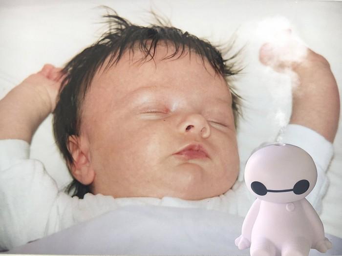 Máy Tạo độ ẩm kiêm đèn ngủ big hero humidifier quạt hơi Nước mini