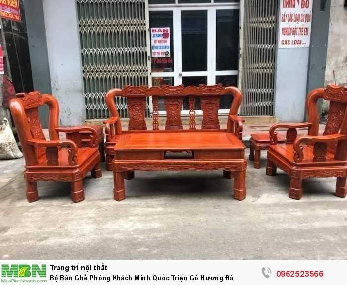 Bộ Bàn Ghế Phòng Khách Minh Quốc Triện Gỗ Hương Đá - GỌI 0962523566 (24/24)0