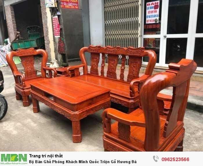 Bộ Bàn Ghế Phòng Khách Minh Quốc Triện Gỗ Hương Đá - GỌI 0962523566 (24/24)1