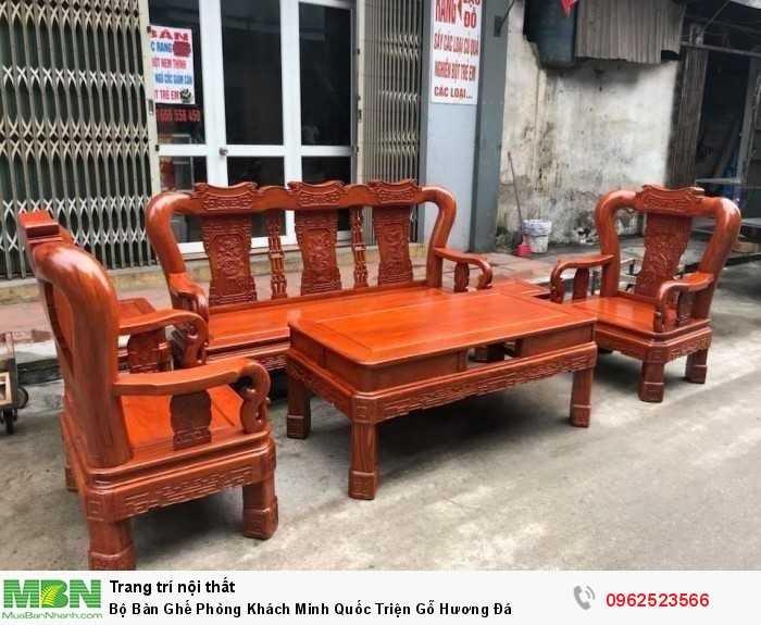 Bộ Bàn Ghế Phòng Khách Minh Quốc Triện Gỗ Hương Đá - GỌI 0962523566 (24/24)2