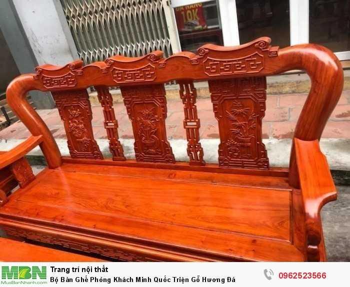 Bộ Bàn Ghế Phòng Khách Minh Quốc Triện Gỗ Hương Đá - GỌI 0962523566 (24/24)3