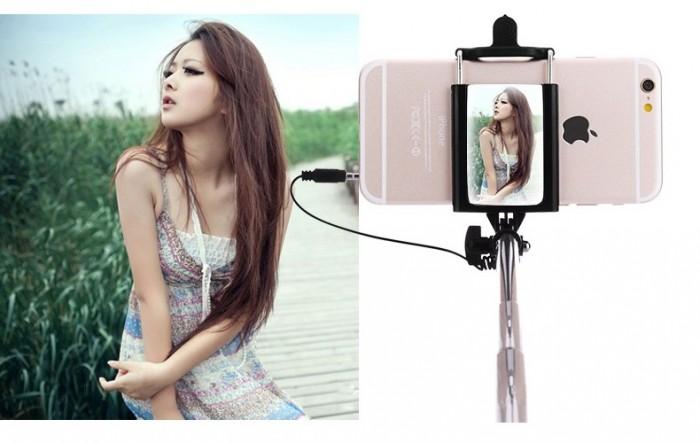 Gậy tự sướng iselfie có gương cho tự sướng selfie camera sau cực đỉnh