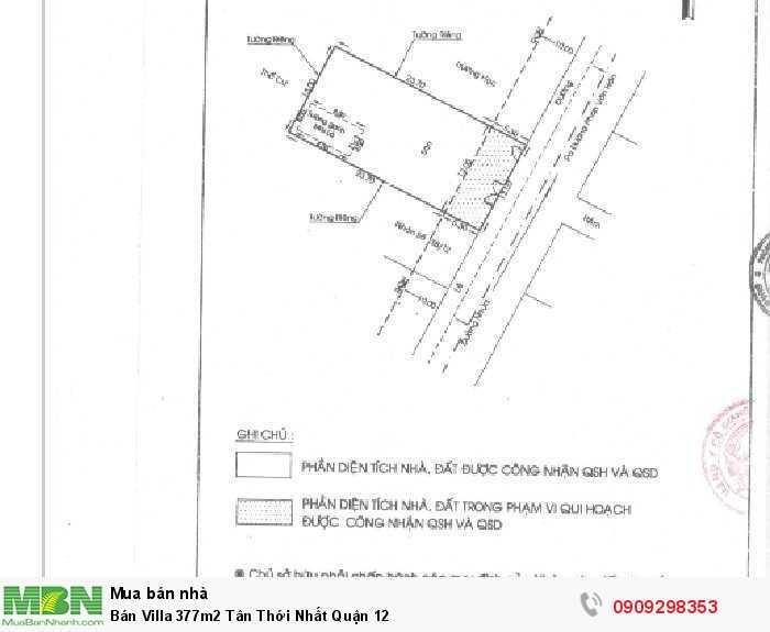 Bán Villa 377m2 Tân Thới Nhất Quận 12