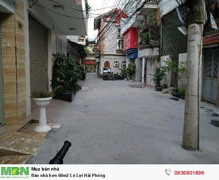Bán nhà hơn 60m2 Lê Lợi Hải Phòng