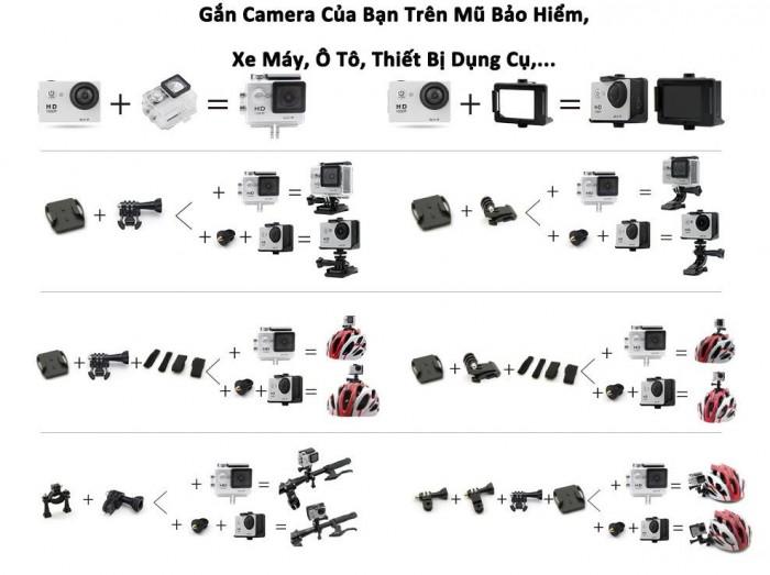 camera hành Trình, hành động Sport Cam Wifi 4K ULTRA HD chống rung có hỗ trợ quay ban �...