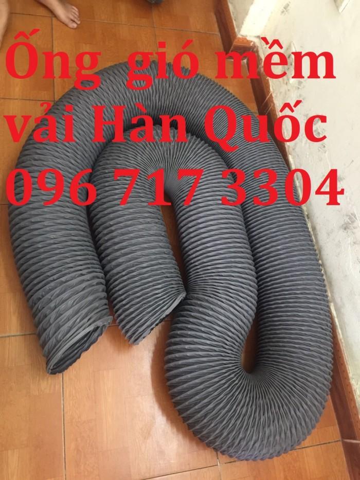 Ống gió mềm vải Hàn Quốc  D100, D125 , D150, D175, D200,... giá rẻ0