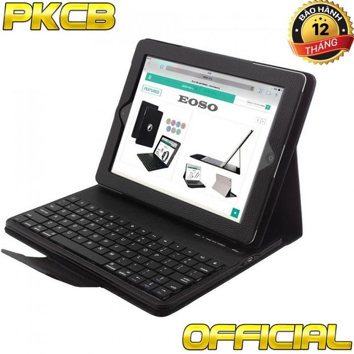 Bàn phím Bluetootoh Kiêm ốp lưng giá Đỡ Case Keyboard iPad 2 3 49