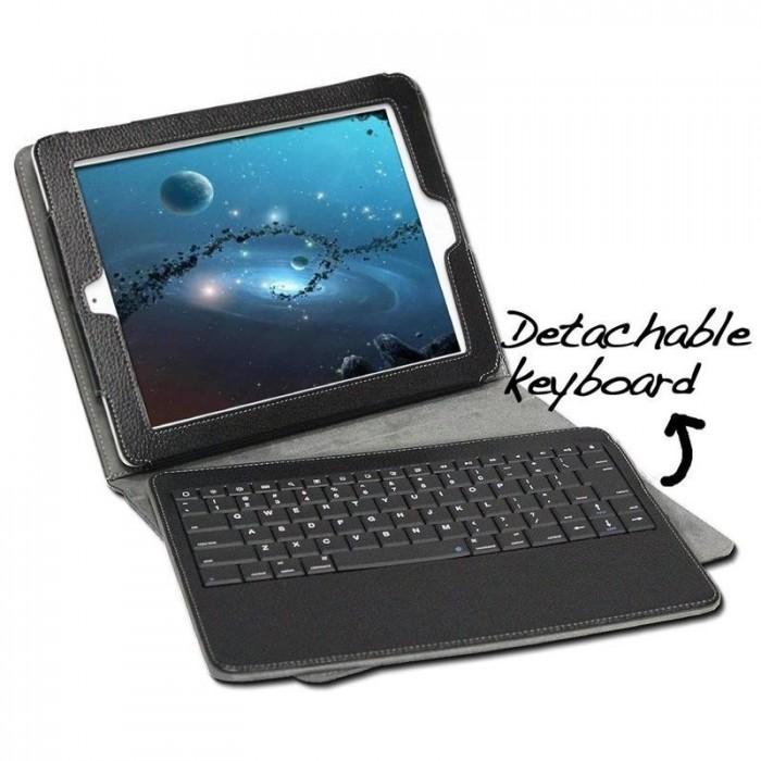 Bàn phím Bluetootoh Kiêm ốp lưng giá Đỡ Case Keyboard iPad 2 3 48