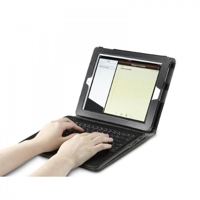 Bàn phím Bluetootoh Kiêm ốp lưng giá Đỡ Case Keyboard iPad 2 3 44