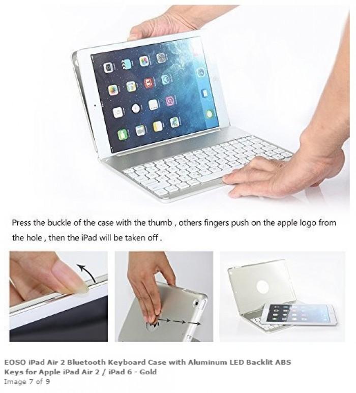 Bàn phím ốp lưng Bluetooth iPad Air iPad 5 tích hợp đèn LED9