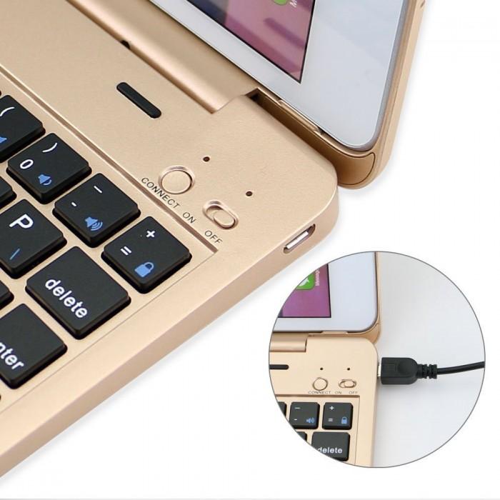 Bàn phím Bluetooth Ốp lưng iPad mini 123 (Đồng)0