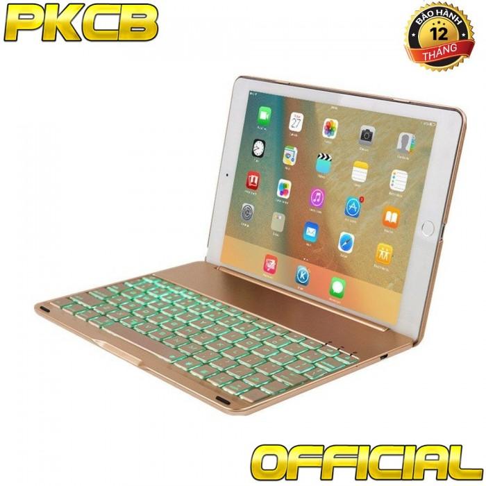 bàn phím Ipad pro 10.5 bluetooth kiêm Ốp lưng f105 tích Hợp đèn LED11
