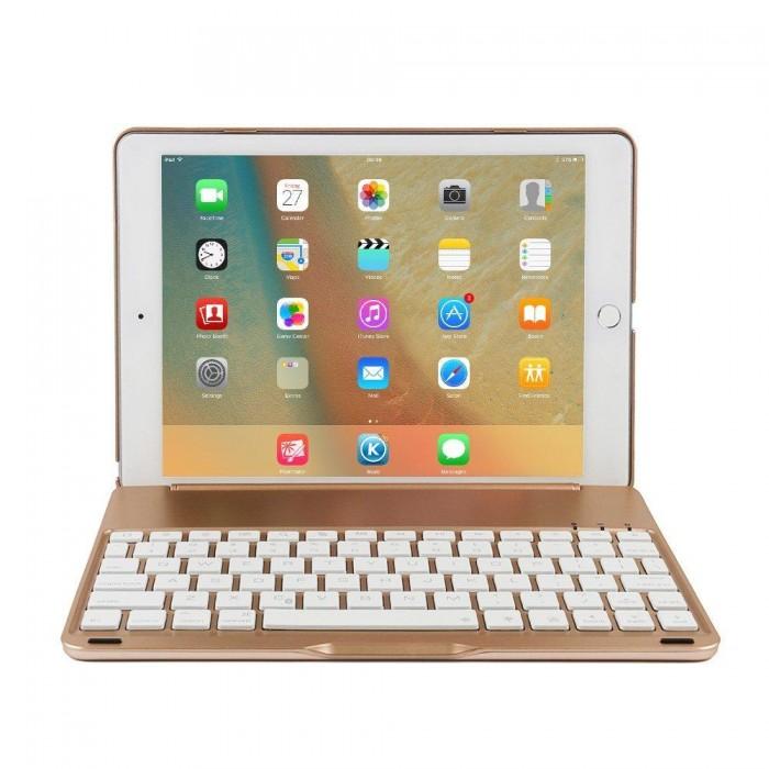 bàn phím Ipad pro 10.5 bluetooth kiêm Ốp lưng f105 tích Hợp đèn LED8