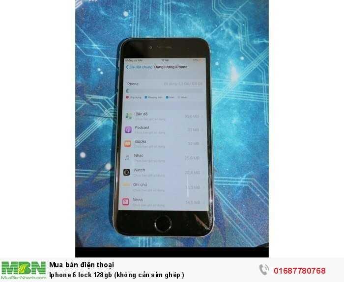 Iphone 6 lock 128gb (không cần sim ghép )0