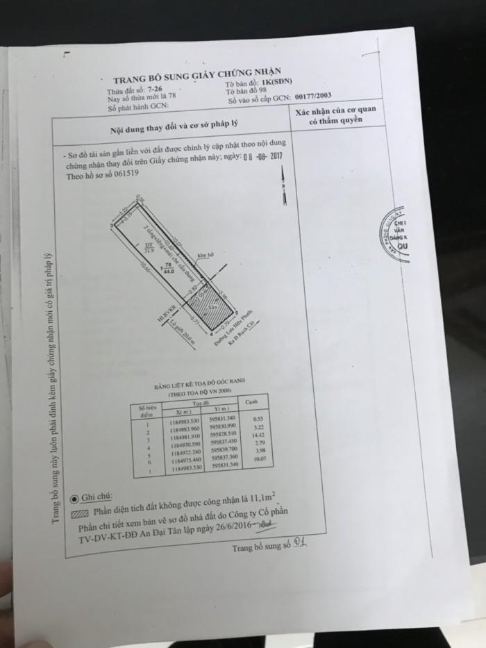 Bán Nhà Mặt Tiền Đường Lưu Hữu Phước Q.8