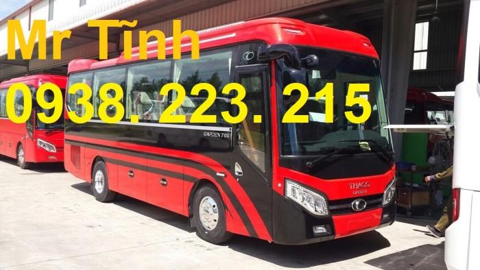 Giá xe tb79 garden thaco 29 chỗ bầu hơi mẫu mới, rẻ nhất, giao liền