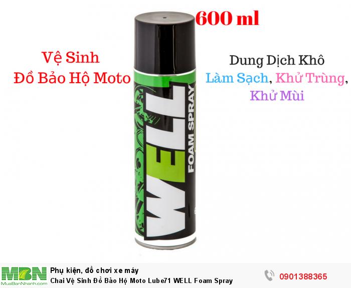 Chai Vệ Sinh Đồ Bảo Hộ Moto Lube71 WELL Foam Spray