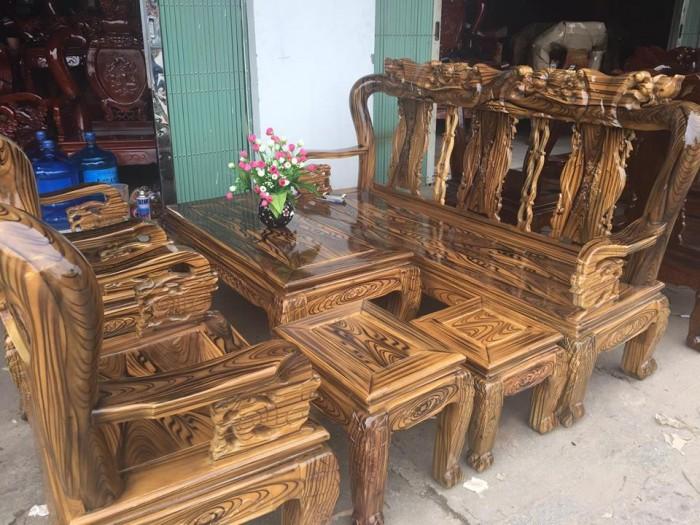 Bàn Ghế Phòng Khách Minh Quốc Đào Gỗ Tràm PU Giả Mun dogomanhmoc.com