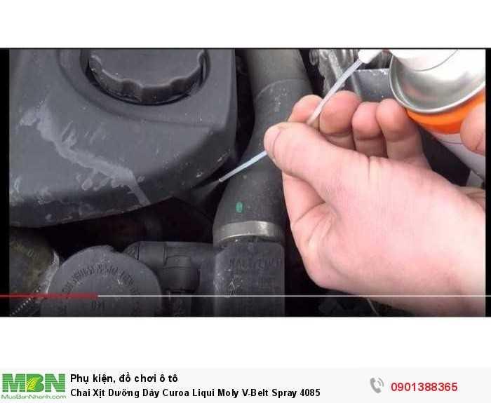 Xịt bảo dưỡng dây curoa Liqui Moly V-Belt Spray được sản xuất theo công nghệ tiên tiến, là sản phẩm cần thiết để đảm bảo cho dây curoa vận hành trơn tru.
