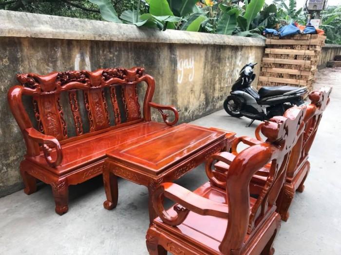 Bàn Ghế Phòng Khách Minh Quốc Đào Gỗ Xà Cừ dogomanhmoc.com3