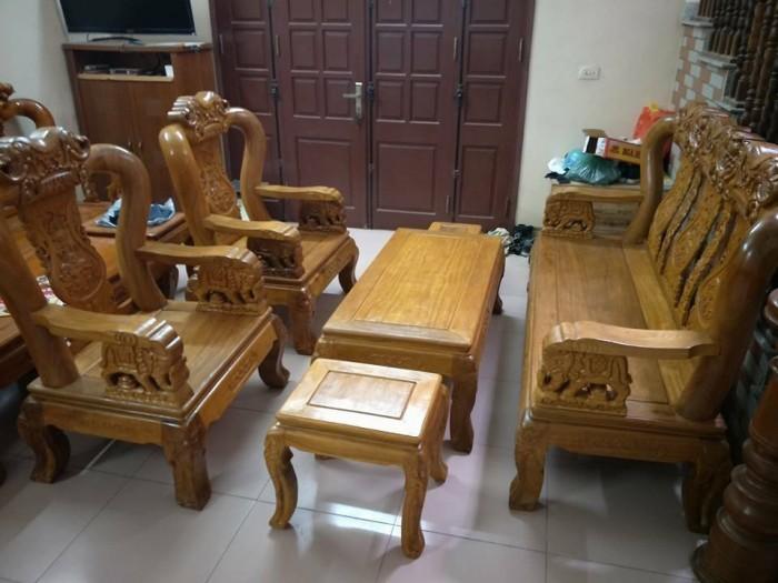 Bàn Ghế Phòng Khách Minh Quốc Voi Gỗ Lim dogomanhmoc.com