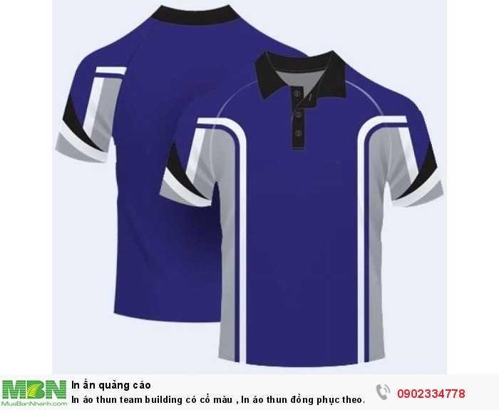In áo thun team building có cổ màu , In áo thun đồng phục theo yêu cầu nhanh đẹp và chất lượng