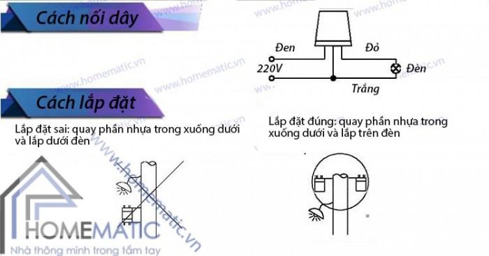 Công tắc cảm ứng ánh sáng 10A AS-102