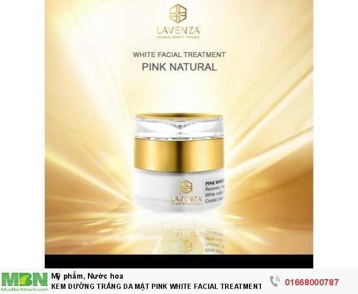 Kem Dưỡng Trắng Da Mặt Pink White Facial Treatment Natural1