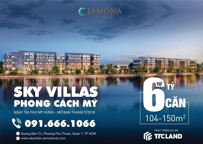 TTCLand mở bán biệt thự trên không Sky Villas. Thanh toán theo tiến độ, giá tốt đợt 1, ưu đãi tốt
