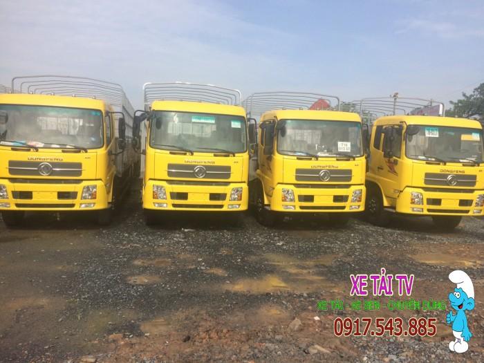 Giá xe tải dongfeng B170 tải 9 tấn thùng mui bạt 7