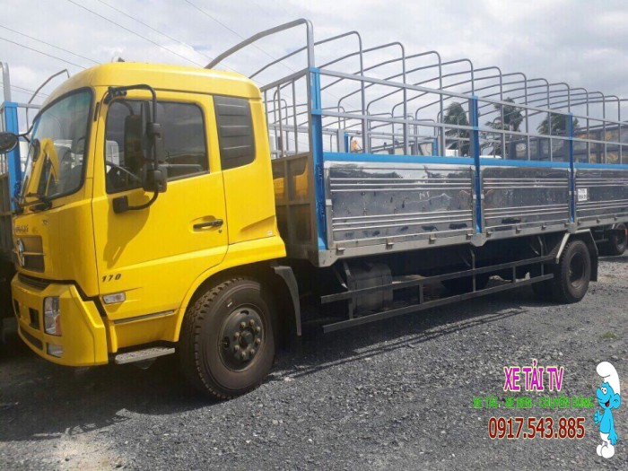 Giá xe tải dongfeng B170 tải 9 tấn thùng mui bạt 5