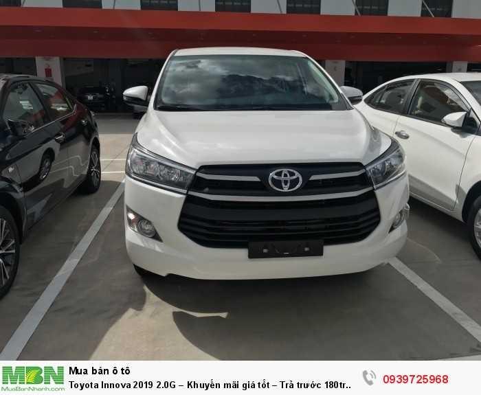 Toyota Innova 2019 2.0G – Khuyến mãi giá tốt – Trả trước 180tr nhận xe.