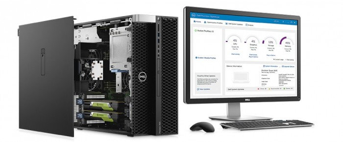Máy trạm Dell precision 5820 tower W-2104/16g/1Tb/w10 (70154197 - 70154208)0